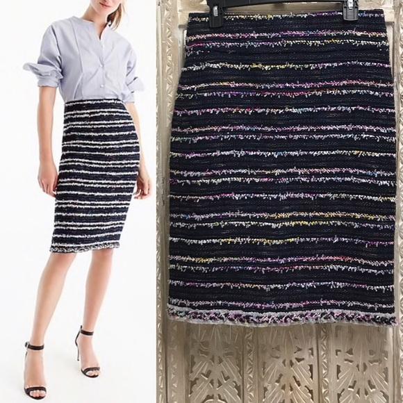 247bb3e9f0d3 J. Crew Dresses & Skirts - J. CREW Pencil Skirt in Navy Party Tweed
